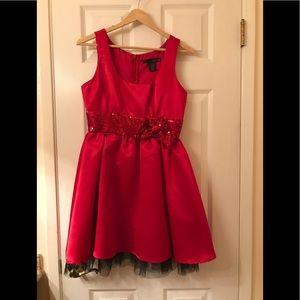 Juniors red dress